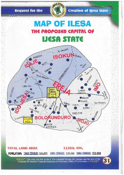 Ogedengbe The Legendary African Warrior - Ilesa map